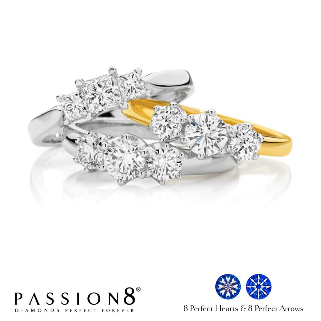 Trilogy Diamond Rings At Passion8