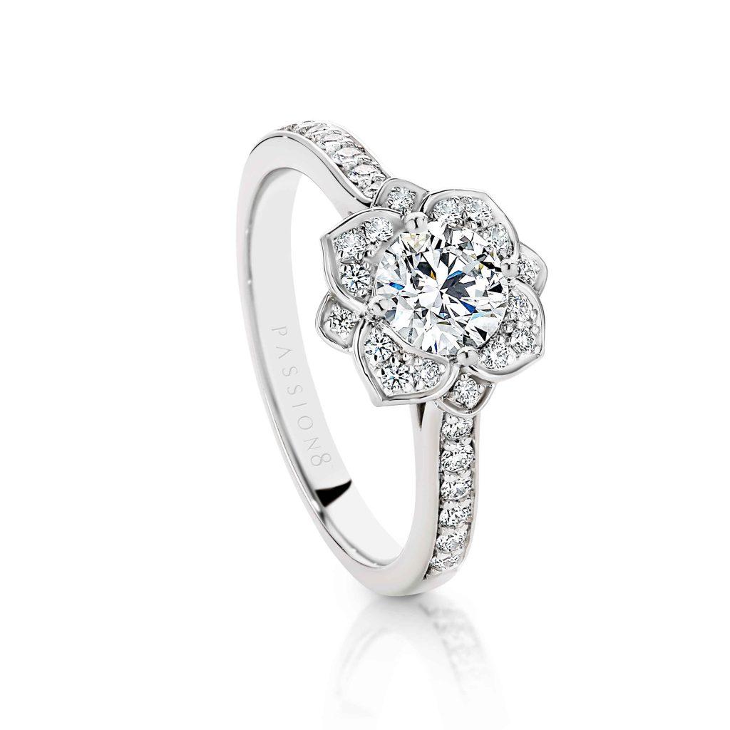 Cushion Double Halo Diamond Engagement Ring