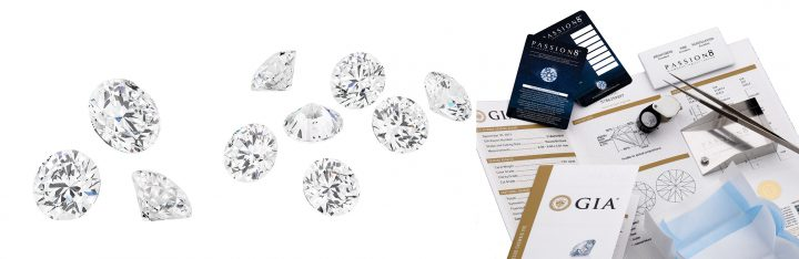 Passion8 Diamond Certification and Authenticity Card